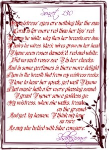 sonnet 130 shakespeare