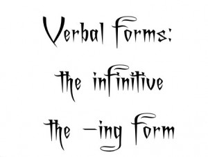 infinitive ing form