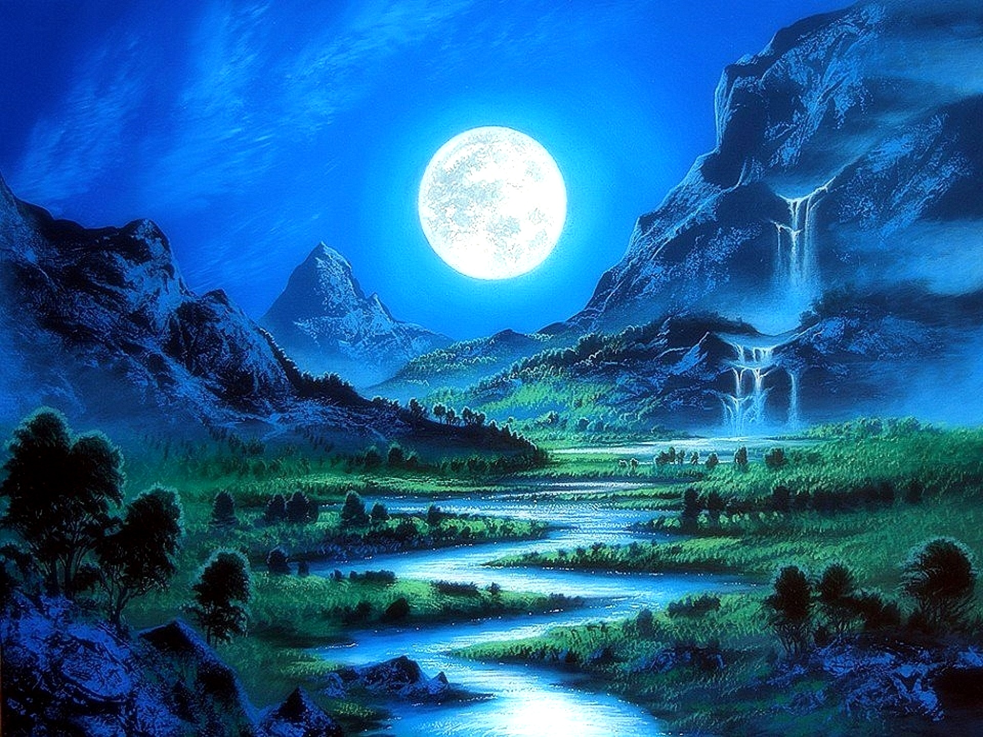 Dear moon elitere - Cool night nature backgrounds ...